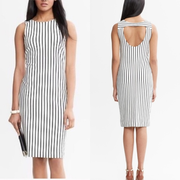 Banana Republic Dresses & Skirts - Banana Republic Madmen Verticle Striped Dress